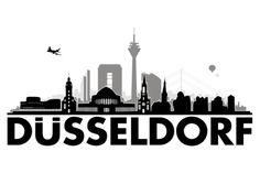 Düsseldorf 3C | von Grafikhure | - Wandtattoo Skyline
