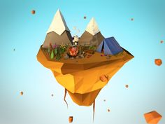 Islands is my personal project,that i've created in low poly style. Sprites, Cardboard City, Nature 3d, Polygon Art, Photoshop Images, 3d Fantasy, Fantasy Island, Low Poly Models, Low Poly 3d