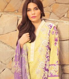 Sapphire Cambric Suits Collection 2015 Ethnic Fantacy B