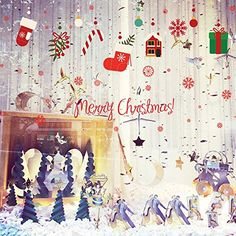 TOOPOOT Removable Xmas Decoration Wall Sticker Shop Window Glass Decor Decal Mural G -- Want additional info? Click on the image. (Note:Amazon affiliate link)