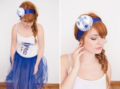 Use this tutorial to DIY an R2D2 costume for Halloween.