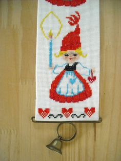 Embroidered Cross Stitch Scandanavian Christmas by EMWvintage, $12.00