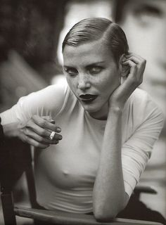 Nadja Auermann by Peter Lindbergh - .