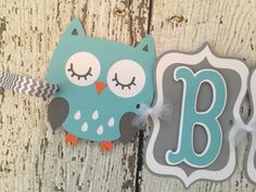 Owl Baby Banner in Mint, Grey and White, Woodland Baby Shower Banner by AllDiaperCakes on Etsy https://www.etsy.com/listing/270006866/owl-baby-banner-in-mint-grey-and-white