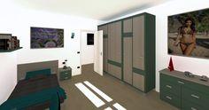 TOTAL RENDERING di fabbricato bifamiliare di prossima realizzazione - vista interna camera da letto singola