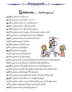 Här kommer ytterligare ett förslag till festhäftet. Det är en lista över gästerna där man kan få läsa hur många av gästerna, procentuellt, som till exempel har bestigit Mount Everest, cyklat Vättern… Diy Wedding, Wedding Things, Got Married, Weddingideas, Big Day, Wedding Planning, How To Plan, Mount Everest, Petra