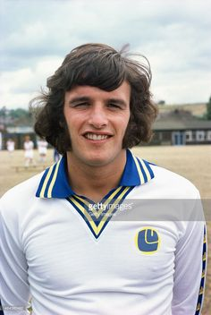 Leeds United player Frank Gray pictured prior to the 1976/77 season at Elland Road in August 1976...