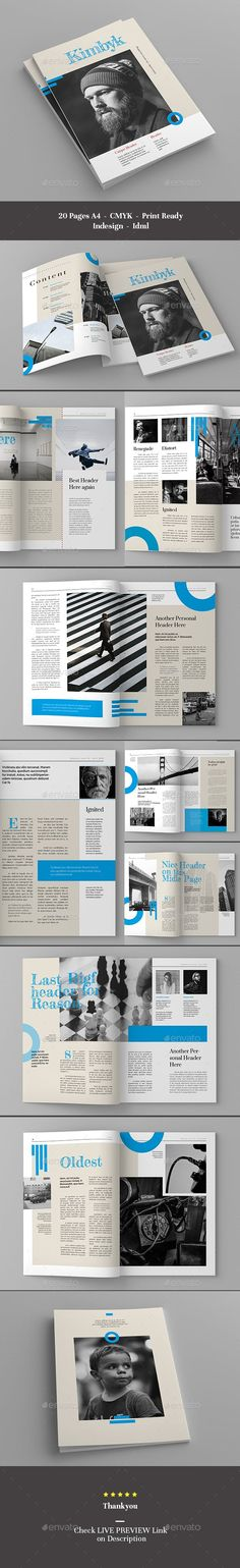 LIVE PREVIEW This Magazine Template is made to easier your job, simply change images and texts and place it with your own Grid Layouts, Cool Magazine, Change Image, Magazine Template, Templates, Texts, Cinema, Live, Design