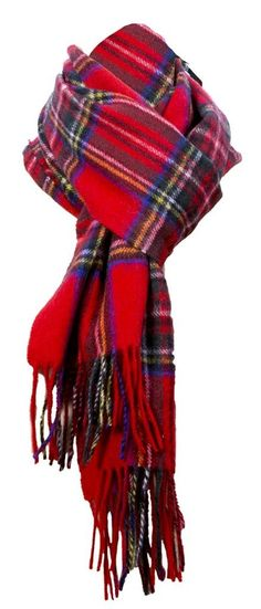 Royal Stewart cashmere wool blend Scarf, Red Scarf , Scottish Tartan Scarves free p&p: Amazon.co.uk: Clothing