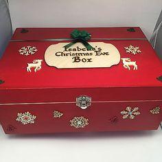 Personalised Christmas Eve Box pyrography goodies santa