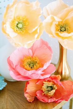 Fresh Cut Paper Flowers: Icelandic Poppies by Appetite Paper for Oh So Beautiful Paper