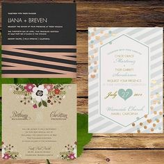 Stunning wedding invitations with a great post at Green Wedding Shoes