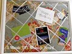 DIY Message Board via   Be Book Bound
