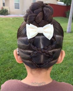 Elastic crisscrossed braids into a braided bun 🐾 . Continuing with mental health disorders, today I'll talk about ADD 🍄 Attention-… Lil Girl Hairstyles, Girls Hairdos, Princess Hairstyles, Hairstyles For School, Pretty Hairstyles, Braided Hairstyles, Toddler Hairstyles, Teenage Hairstyles, Modern Hairstyles