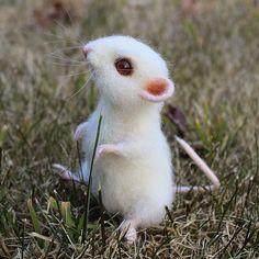 Еще фото мышки Норочки. Мышка продана. Sold.  #maus #feltingwool #animals #pets #needlefelted #шерсть #мышки #игрушкиизшерсти #сухоеваляние