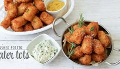 Mashed Potato Tater Tots...using leftover mashed potatoes from Thanksgiving