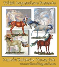 The Amazing Horse Fine Art Gallery Of Marcia Baldwin  Marcia Baldwin Brings To The Art World A New Truely Stunning  Style To Horse Art With Her Horses And Paintings In Brilliant colors. Review The collection off of: http://indianvillagemall.com/marciabaldwin.html
