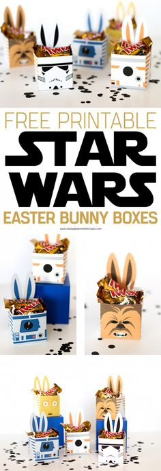 May the Force be with you this Easter with these fun Star Wars Easter Bunny Boxes! My kids will go nuts over these!