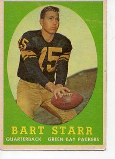 1958 Topps #66 Bart Starr-Green Bay Packers