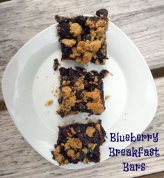Blueberry breakfast bar--perfect breakfast or snack any time of the year! Use fresh blueberries when they are in season and this is a frugal, yet yummy treat!