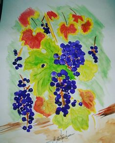 #colors #watercolor #watercolour #painting #waterpaint #fruit #tree #trees #illustration #illustrations #paint #art #drawings #drawing