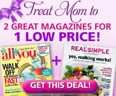 Cheap All You Magazine and Real Simple OR All You Double Subscription ~ 2 for 1 offers Click the link below to get all of the details  ► http://www.thecouponingcouple.com/cheap-all-you-magazine-and-real-simple-or-all-you-double-subscription/