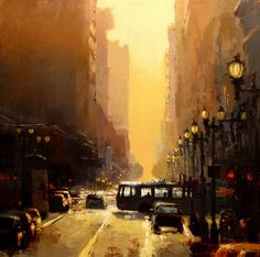 Cityscapes: San Francisco, Downtown Sunset, by artist Jeremy Mann.