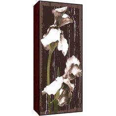 Green Whites Flowers on I Wood Art