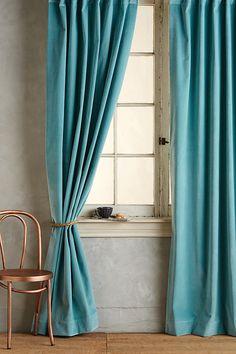 Slide View: 1: Matte Velvet Curtain