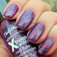 "Rockstar Pink Sally Hansen Hard As Nails Xtreme Wear, 140 Rockstar Pink (on 350 Purple Potion)  Another possible fit for the ""mystery color"" find."