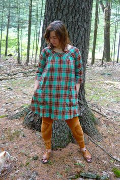 made to order long sleeve smock dress by hodgepodgefarm on Etsy