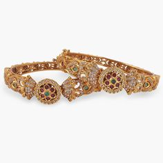 Indian Jewellery Online, Indian Jewelry Sets, Indian Bangles, India Jewelry, Antique Bracelets, Bangle Bracelets, Antique Necklace, Gold Bangles Design, Jewelry Design