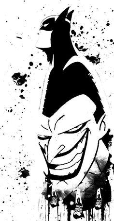 """""""Batman/Joker""""    bydespondentjoy"""