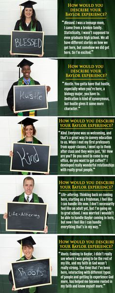 We asked some of this weekend's graduating seniors to describe their Baylor experience in a word; here are their answers.
