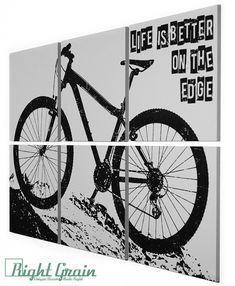 Mountain Bike Painting - Large Bike Art 24x36 Custom Made for You on Etsy, $145.00