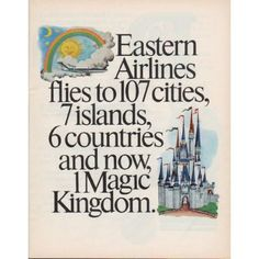 "1971 Eastern Airlines Ad ""Magic Kingdom"""