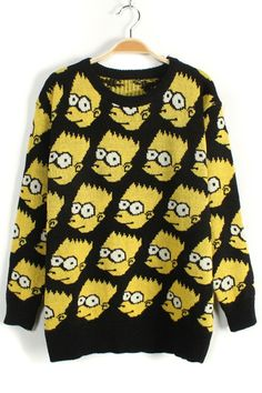 Simpson Graphic Sweater - OASAP.com