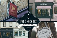 Five amazing PSD shop sign mock ups available 100% free. A huge thanks to Vadim and his team for producing these.