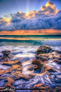 Carlin Park Sunrise at Beach HDR Photography