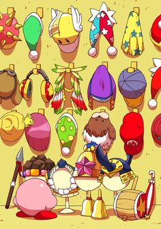 All of Kirby's hats!!! So cute!