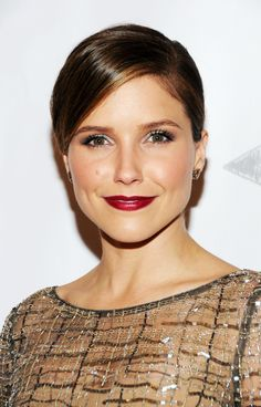 Dark berry lips are trending right now, and we love Sophia Bush's take on it -- perfect for the upcoming holiday party season!