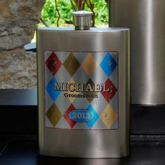 Personalized Argyle Flask by Favors by Serendipity. $42.24. Whether it's the finest Irish whiskey or his favorite Caribbean rum, it'll taste great in our attractive 8 oz. Argyle Flask. Perfect for the prepster, it slips easily into a pocket for safekeeping and includes a sturdy screw-on cap. Free Engraving (we will contact you via email after you place your order to get the rose and engraving info). Select role (Groom, Groomsman, Best Man, or Usher) and personalize with one lin...