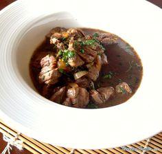 Receta de lomo de res en salsa de vino tinto #receta #comida #deliciosa