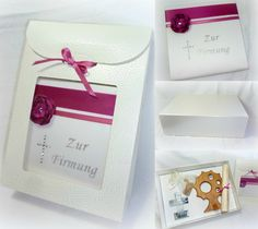 Zur Firmung Wunschbox mit Firmbrief Foto & Design © by Sigrid Kiesenhofer www.acrylmalerei-sk.at Box, Gift Wrapping, Gifts, Design, Craft, Gift Wrapping Paper, Presents, Boxes, Gifs