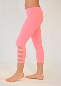 Ninja - Glyder cut out crop legging!! Life is too short too wear frumpy workout apparel!! High quality Nylon Spandex fabric, amazing colors and fit! www.work-sweat-play.com