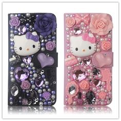 Luxury Bling Crystal Fairy Hello Kitty Diamond Case Cover PU Leather Wallet Case For Apple iPhone 6 SE For LG – World of Hello Kitty Merchandise Apple Iphone 6, Hello Kitty Merchandise, Lg K10, Pu Leather, Leather Wallet, Phone Covers, Bling, Crystals, Luxury