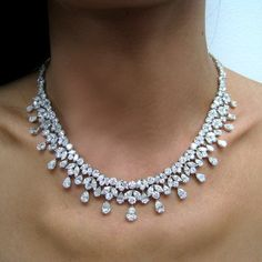 Important 54.47ct MQ  Pear Shape Diamond Tear Drops Platinum Necklace $150,000.00