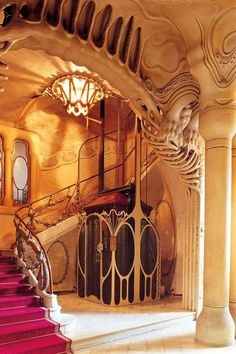 Casa sayrach, barcelona, 1918 spain (see also gaudi) in 2019 Architecture Art Nouveau, Beautiful Architecture, Beautiful Buildings, Art And Architecture, Architecture Details, Modern Buildings, Art Nouveau Arquitectura, Antonio Gaudi, Jugendstil Design