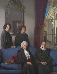 A historic portrait of the four female U. Supreme Court Justices - retired Justice Sandra Day O'Connor and Justices Ruth Bader Ginsburg, Sonia Sotomayor and Elena Kagan - was displayed this morning for the first time at the National Portrait Gallery. Great Women, Amazing Women, Amazing People, Beautiful People, Sandra Day O'connor, Sonia Sotomayor, Sutra, Supreme Court Justices, National Portrait Gallery