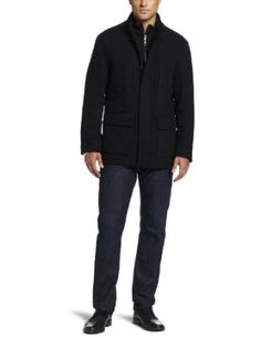 Marc New York by Andrew Marc Men's Keenan Wool Twill Car Coat, #Mens Coat #Mens Jacket